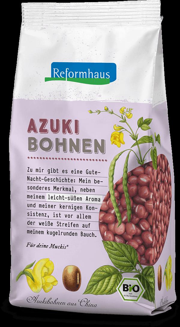 Azuki Bohnen : Reformhaus Produkt Packshot
