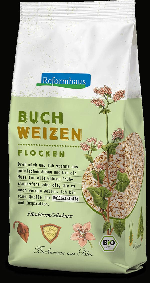 Buchweizen Flocken : Reformhaus Produkt Packshot