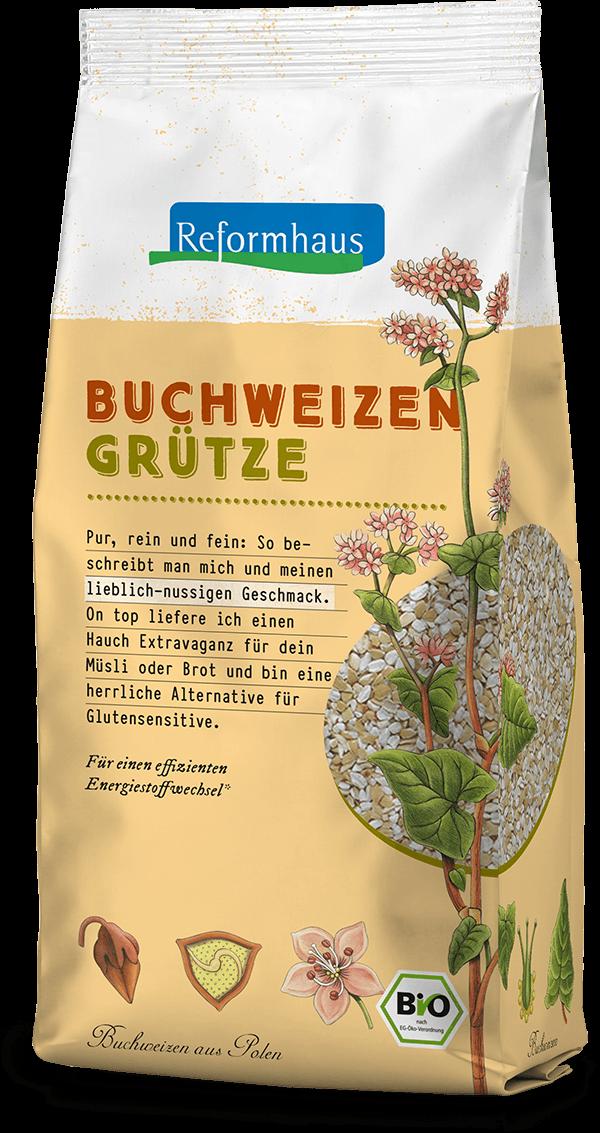 Buchweizen-Grütze : Reformhaus Produkt Packshot