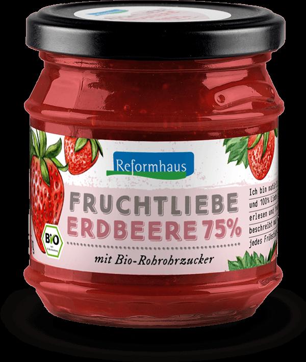 Fruchtliebe Erdbeere 75%