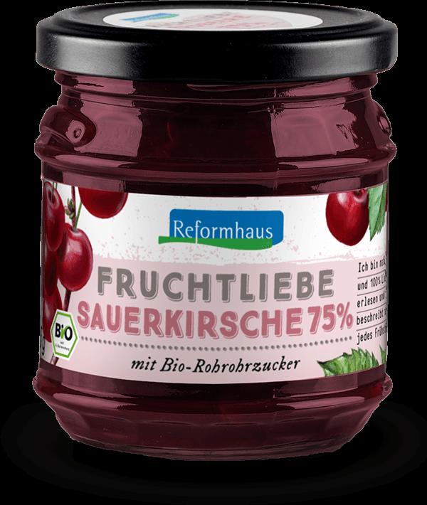 Fruchtliebe - Sauerkirsche : Reformhaus Produkt Packshot