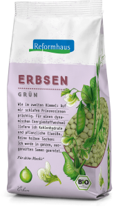 Erbsen Grün : Reformhaus Produkt Packshot