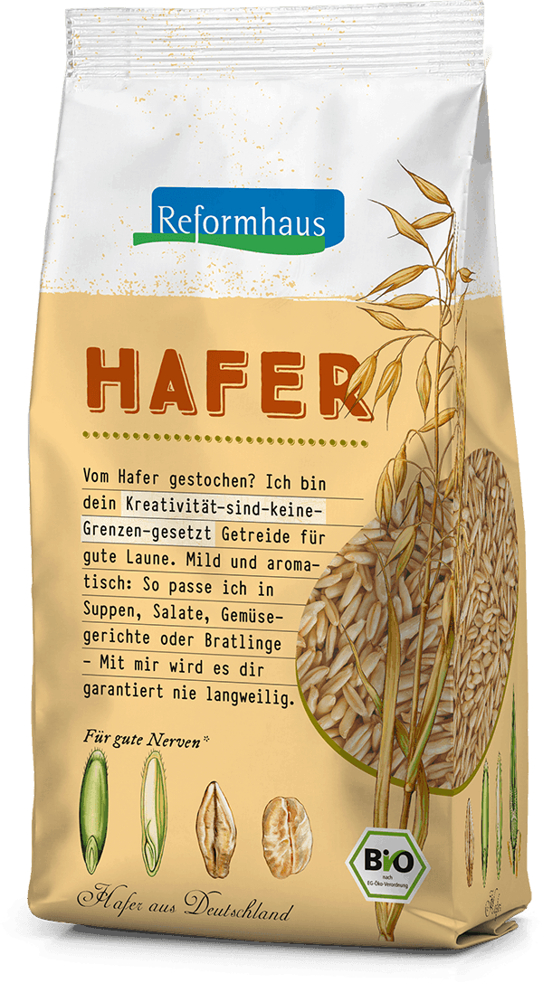 Hafer : Reformhaus Produkt Packshot