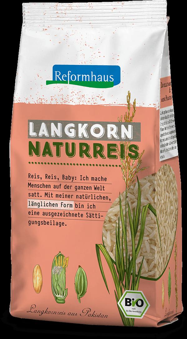 Langkorn Naturreis : Reformhaus Produkt Packshot