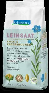 Leinsaat Gold : Reformhaus Produkt Packshot