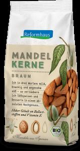Bio braune Mandelkerne : Reformhaus Produkt Packshot