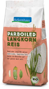 Parboiled Langkornreis : Reformhaus Produkt Packshot