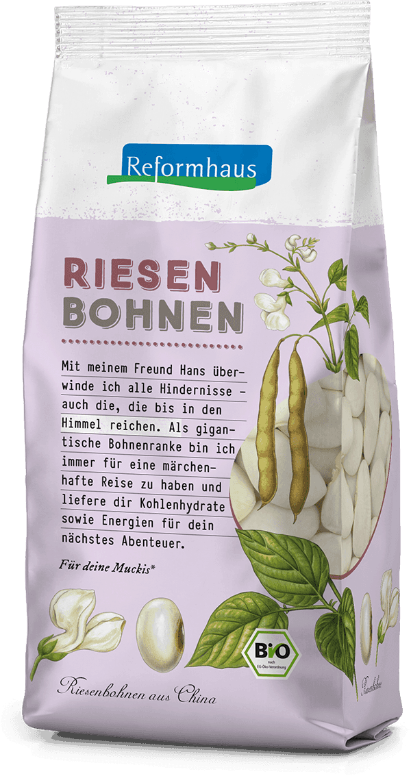 Riesen-Bohnen : Reformhaus Produkt Packshot