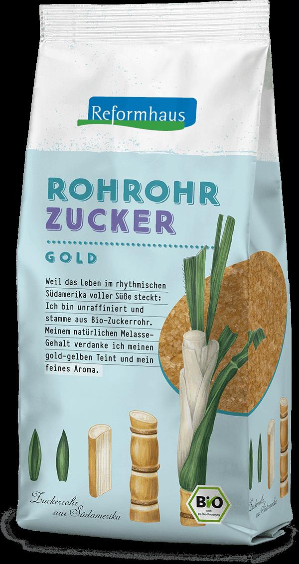 Rohrohrzucker : Reformhaus Produkt Packshot