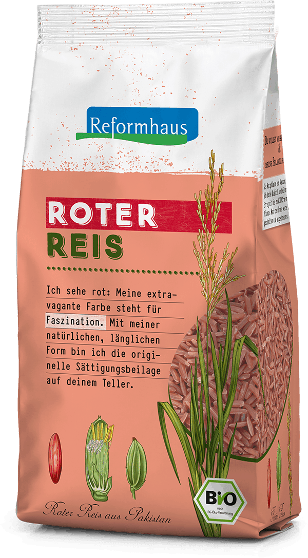 Roter Reis : Reformhaus Produkt Packshot