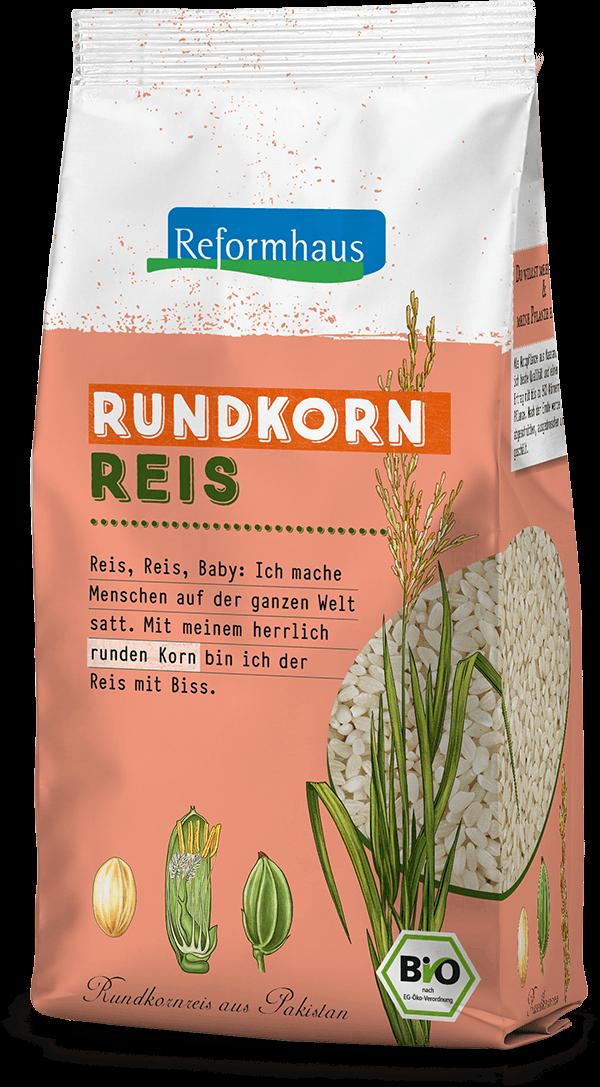 Rundkorn Reis : Reformhaus Produkt Packshot