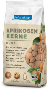 Süße Bio Aprikosenkerne : Reformhaus Produkt Packshot